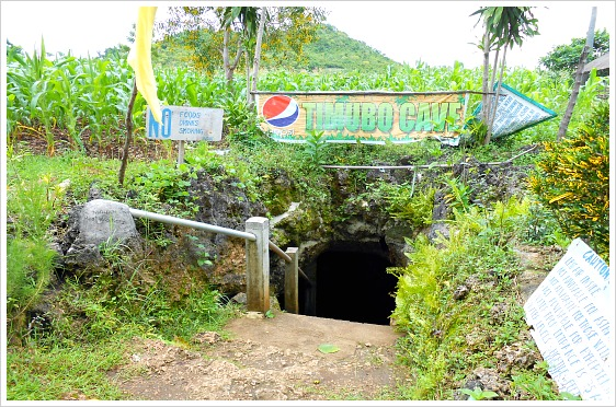 Small entrance of Timubo Cave Resort leading to the fresh pool down below.