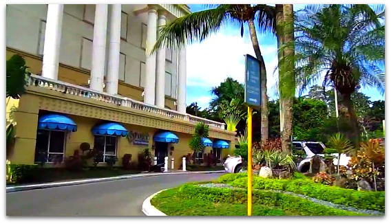 A side view of Waterfront Airport Hotel & Casino on Mactan Island, Cebu, Philippines.