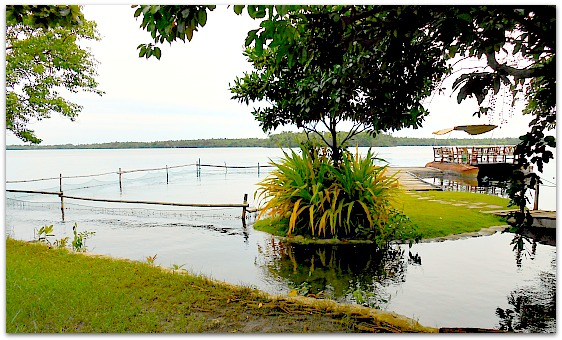 A view of Lake Danao Park in Camotes Islands, Cebu Province, Philippines.
