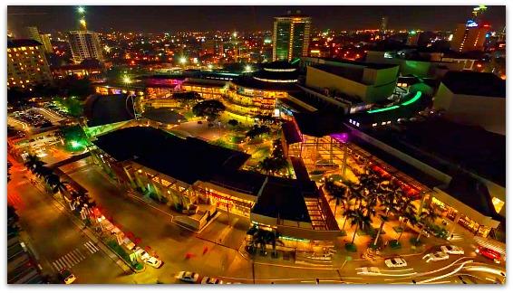 View of Cebu City at night near IT Park