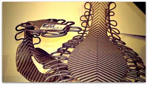 Scorpion-shape Cebu furniture on exhibition
