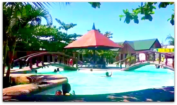 Swimming in pools are Filipinos' favorite activities during summer. Green Lagoon Park, Compostela.