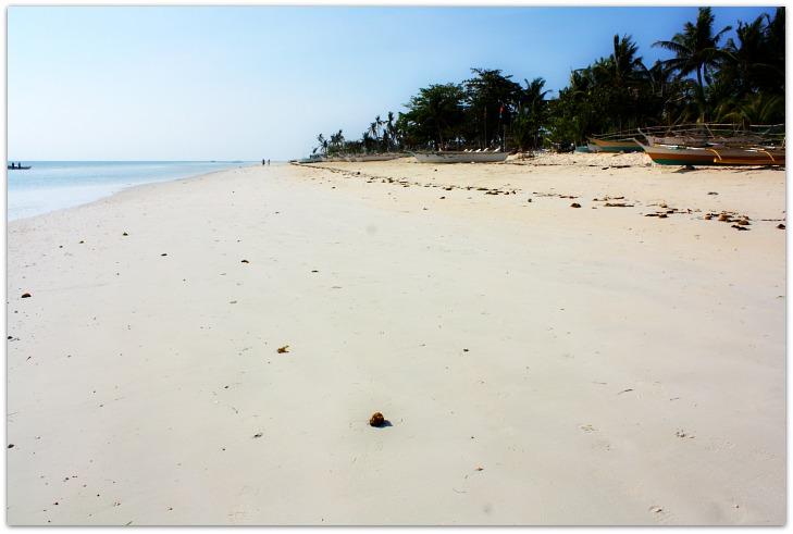 White beach at Hoyohoy Villas Beach Resort on Bantayan Island, Cebu, Philippines