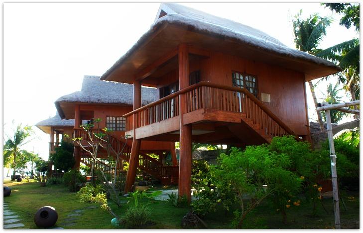 Hoyohoy Villas lining up on Santa Fe, Bantayan Island, Cebu