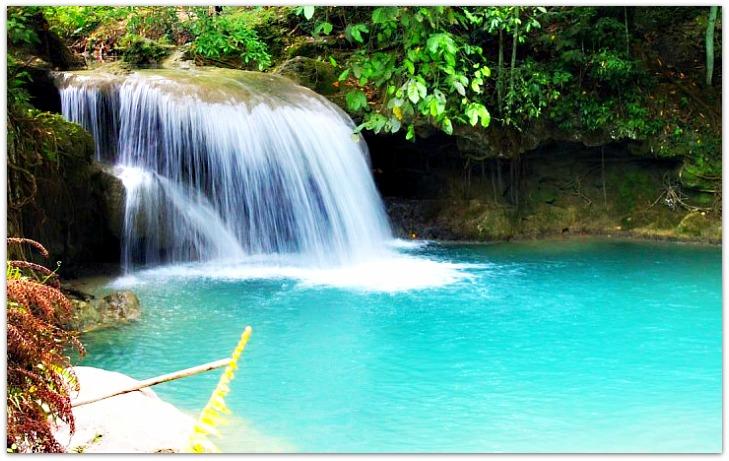 Second tier of Kawasan Falls in Badian, Cebu