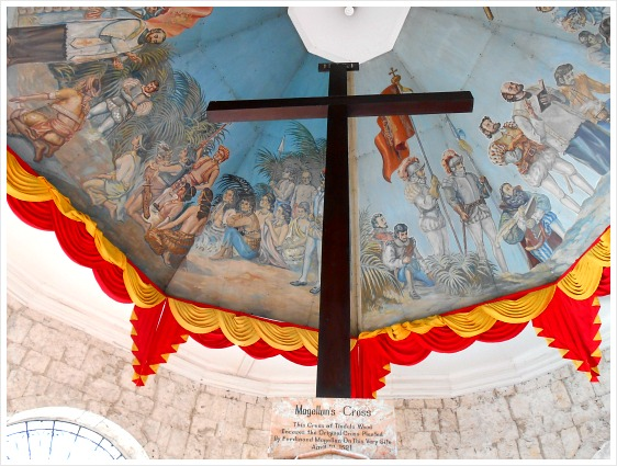 Magellan's Cross, Cebu, Philippines. It is the place where Ferdinand Magellan first erected the symbol of Christianity on this island.