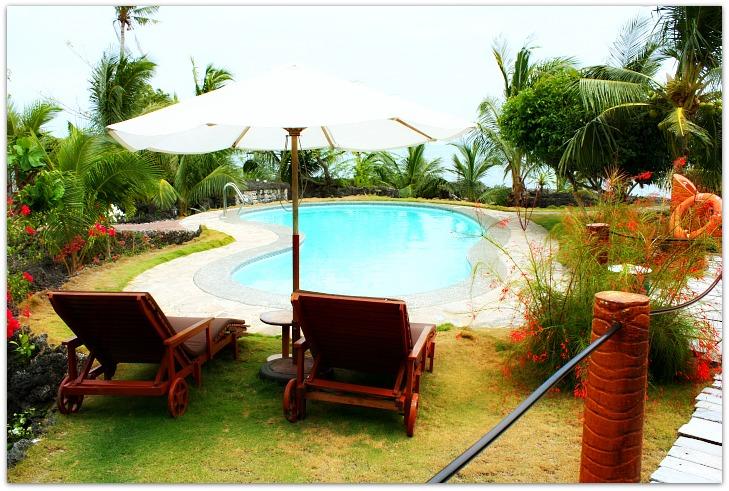 Swimming Pool at Maia's Beach Resort, Bawawon, Bantayan Island, Cebu, Philippines