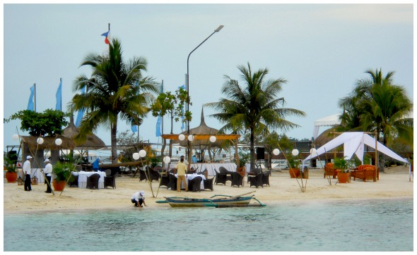 Maribago Bluewater Beach Resort. Shown is the islet right in front of the resort where most special events are being held.