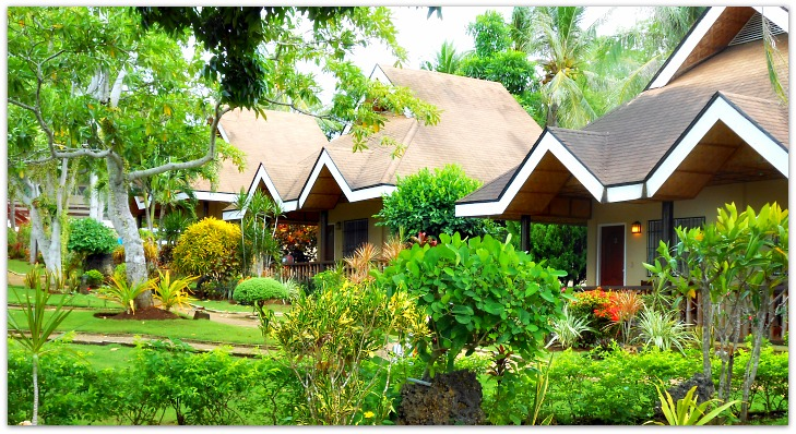 Santiago Bay Garden Resort Bungalows on Camotes Island, Cebu, Philippines. The resort offers various accommodation types to suit your holiday needs.