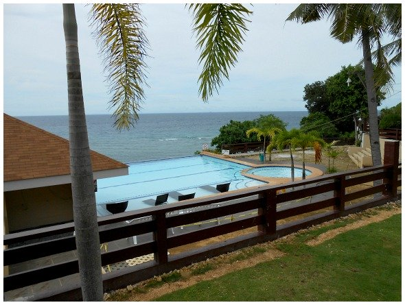 Santiago Bay Garden Swimming Pool. It is located in Camotes Islands, Cebu, Philippines.