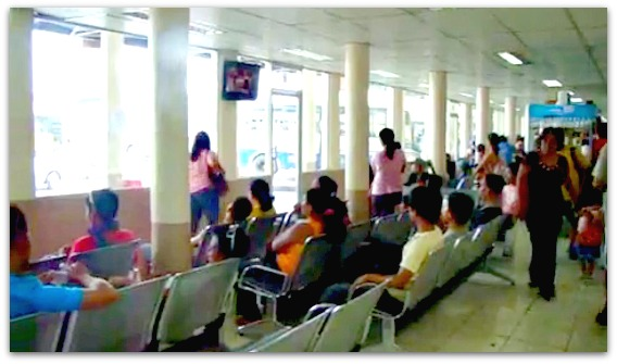 Waiting place for passengers at Cebu South Bus Terminal.