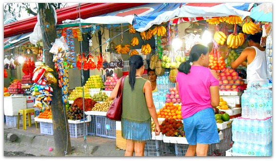 A fruit shop in Cebu City offers cheap and locally produced fresh fruit products